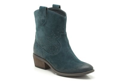 Womens Casual Boots - Moonlit Star in Blue Suede from Clarks shoes