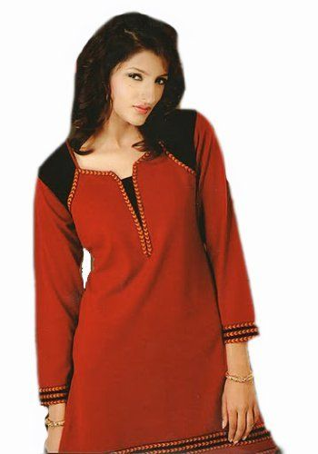 Nice Manual Embroidery work Ladies Top Tunic Blouse Kurta Haas Fashion. $46.00. Thread Embroidery work. Satin. Thigh length Half Sleeve Top. Satin. Designer Ladies Blouses /Tunics/ Tops. Inner Lining to be avoid embroiderey itchiness.If you don't want the inner lining,Kindly inform us while you place the order.
