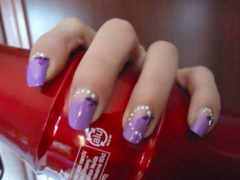 San Valentino Sweet Violet Nail Art (Facile decorazione unghie in violetto)