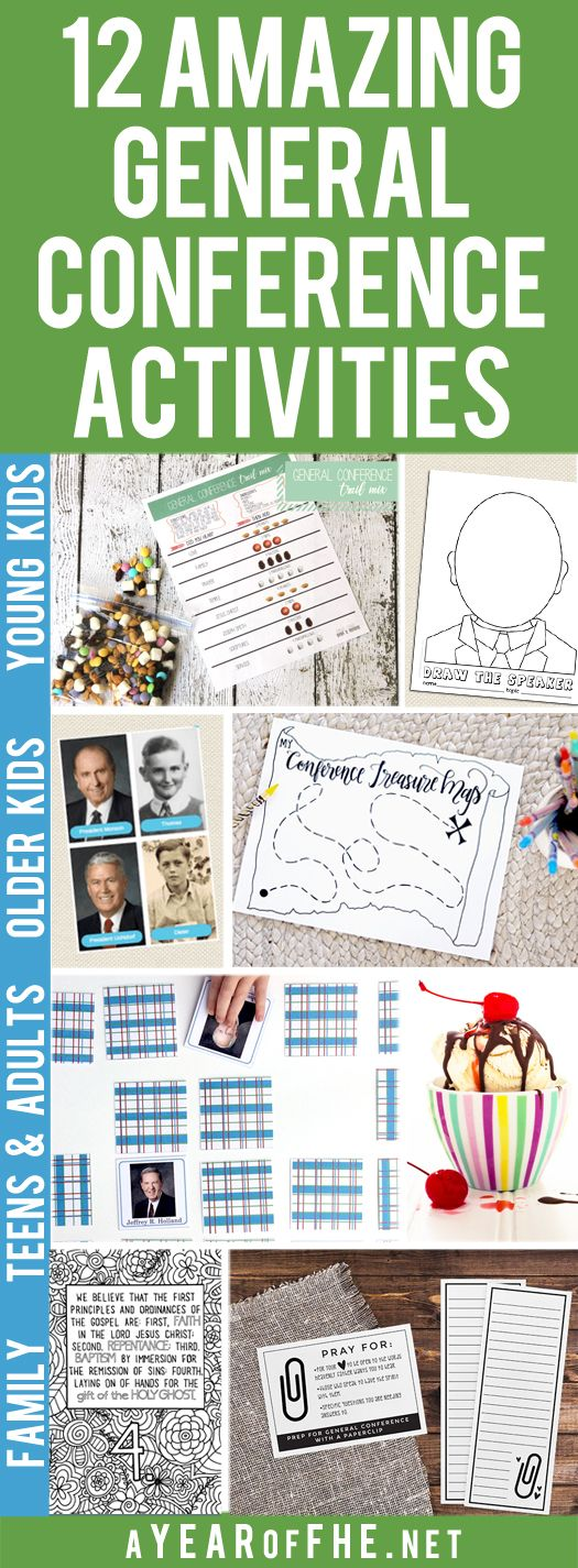 A Year of FHE // Check out this wonderful list of 12 Great LDS General Conference Activities for Kids, Teens, Adults, and the Entire Family from LDS Bloggers! ALl of these activities are FREE and have downloads that go with them! #lds #ldsconf