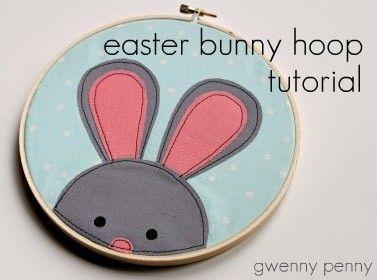 bunny embroidery hoop