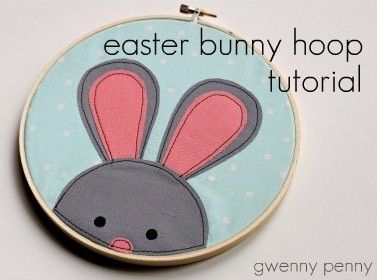Gwenny Penny: Easter Bunny Embroidery Hoop Tutorial