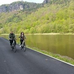 Tour Bohemian Swizerland National Park by bike with certified local guide Ales