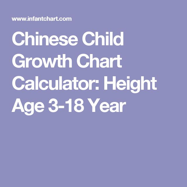 Chinese Child Growth Chart Calculator: Height Age 3-18 Year