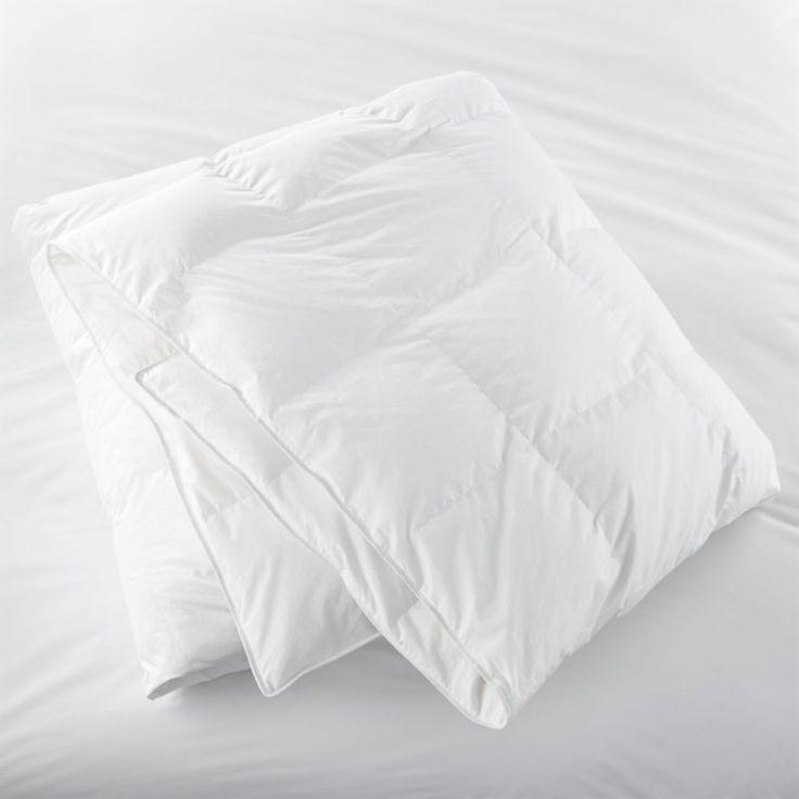 "We've handpicked this bedding essential for its quality and versatility.  Medium-weight, all-season duvet insert features 10"" baffle block construction for maximum loft and minimum shifting of the down.  Premium snow-white domestic down is encased in a 230-thread-count cambric cotton shell.  Shell is down- and feather-proof, preshrunk, and finished with double-needle stitching and cotton cording.  Down alternative duvet insert also available."
