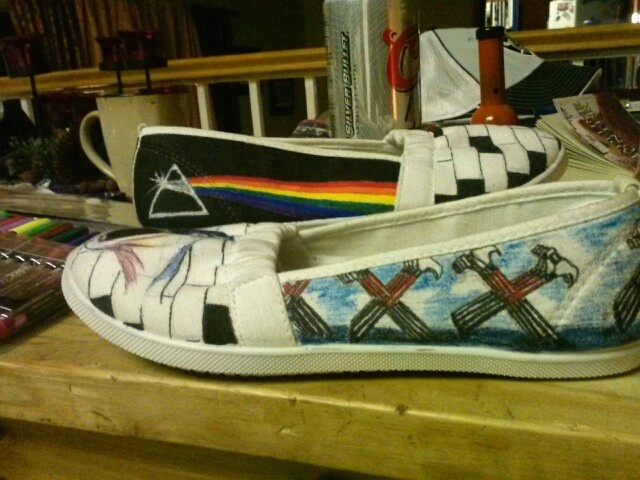 Pink Floyd shoes by Dani White