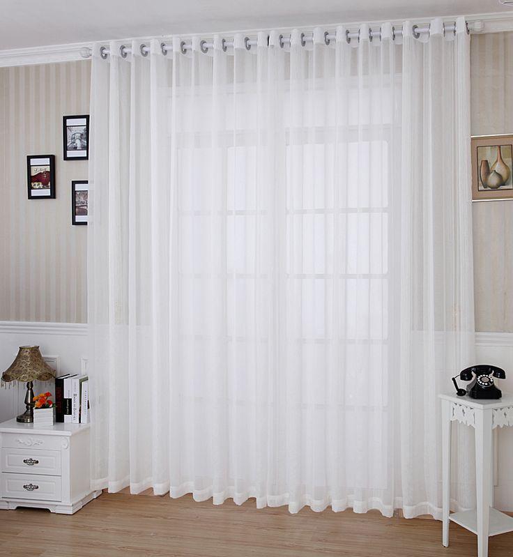 17 mejores ideas sobre cortinas blancas en pinterest - Cortinas para salon blanco ...