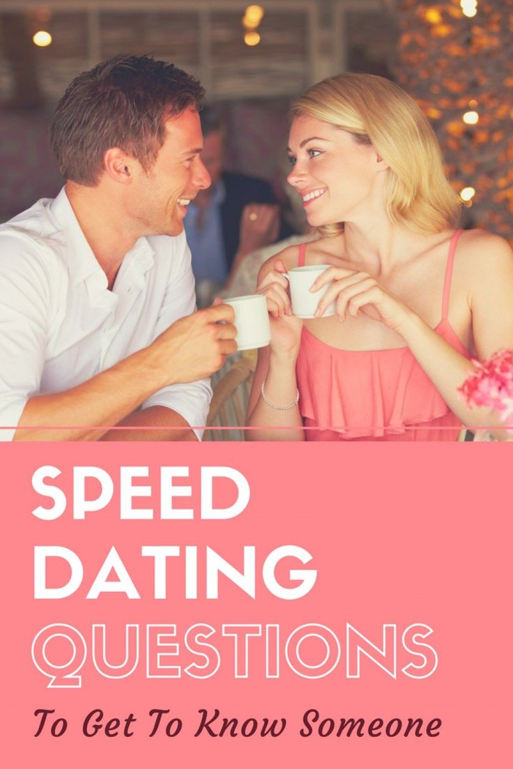 Speed Dating Events Schedule