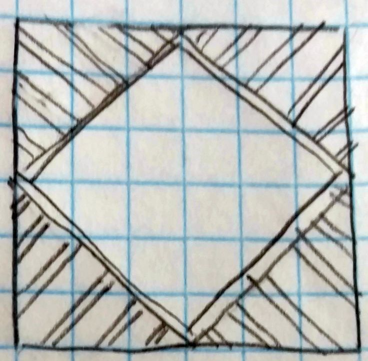 25 ways to quilt a Square in a Square block.