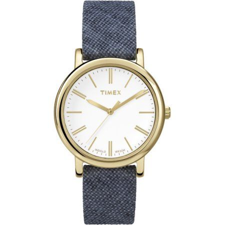 Timex Leather Ladies Watch T2P638, Blue