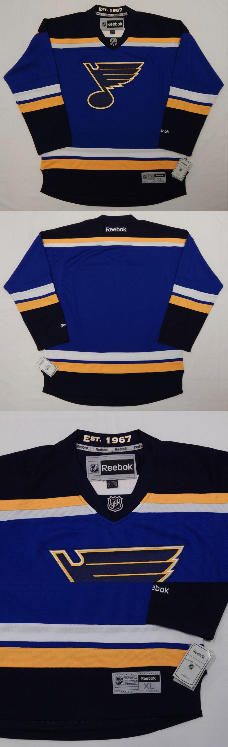 Hockey-Team Canada 2868: Reebok Premier St Louis Blues Nhl Official Jersey Adult Xl New +Tags + Est 1967 -> BUY IT NOW ONLY: $76.49 on eBay!
