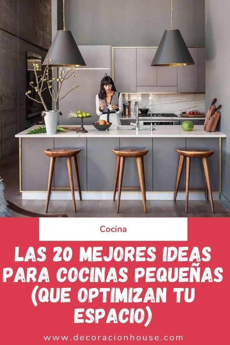Las 20 mejores ideas para cocinas pequeñas (que optimizan tu espacio)