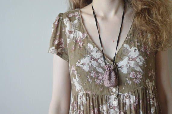Luna's Little Lacy Pouch Necklace