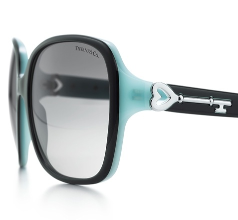 Tiffany & Co.   Item   Tiffany Keys square sunglasses in black and Tiffany Blue® acetate.   United States