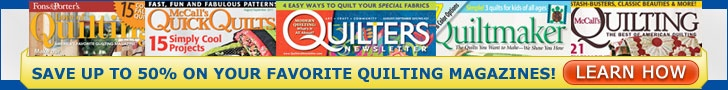 McCalls Login-In Website for Quick Quilts for Tutorials & Patterns