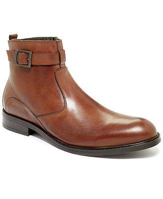 Alfani Men's Shoes, Kildare Plain Toe Buckle Boots