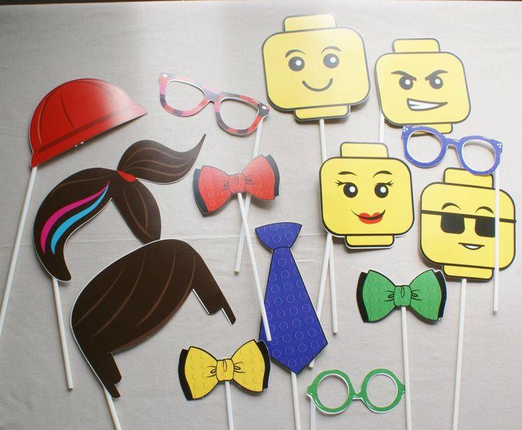 LEGO Photobooth Lego Party fiesta de cumpleaños por MookiPartyShop