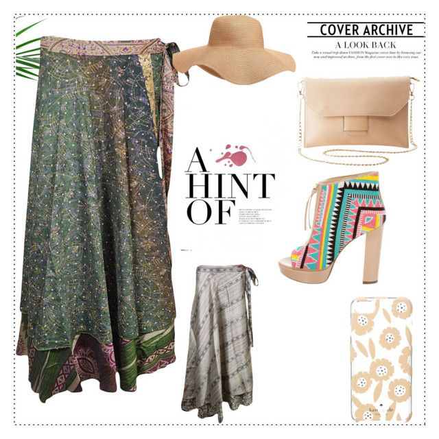 """""""Wrap Around Long Skirts"""" by globaltrendzs-flipkart ❤ liked on Polyvore featuring Old Navy, Charlotte Russe, Jerome C. Rousseau and Kate Spade"""