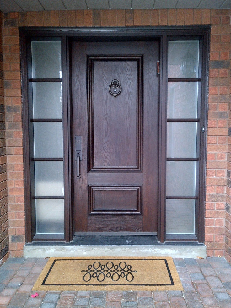 17 best images about fiberglass doors on pinterest for Fiberglass entry doors with sidelights