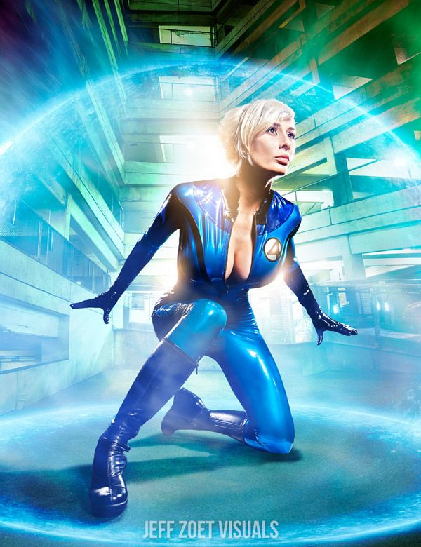 Invisible Woman, Fantastic Four, by Marie Claude, photo by Jeff Zoet.