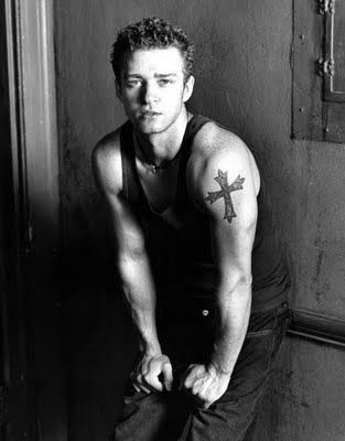 Justin Timberlake Tattoos   justin timberlake cross tattoos justin timberlake ankle tattoos justin ...