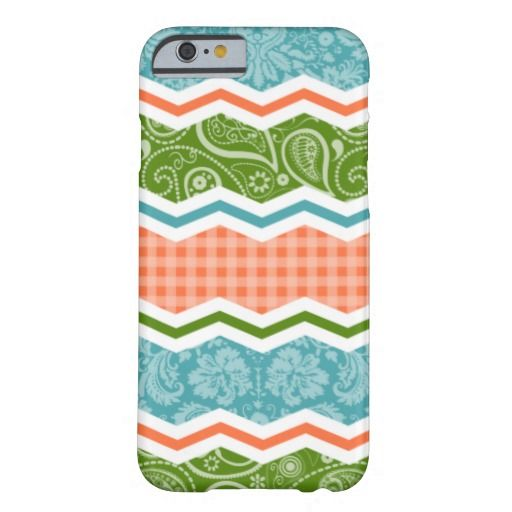 Blue, Green, and Orange Country Patterns Barely There iPhone 6 Case #iphone #iphone6 #case #country #girly #pattern #cottage #farm #quilt #blue #green #orange