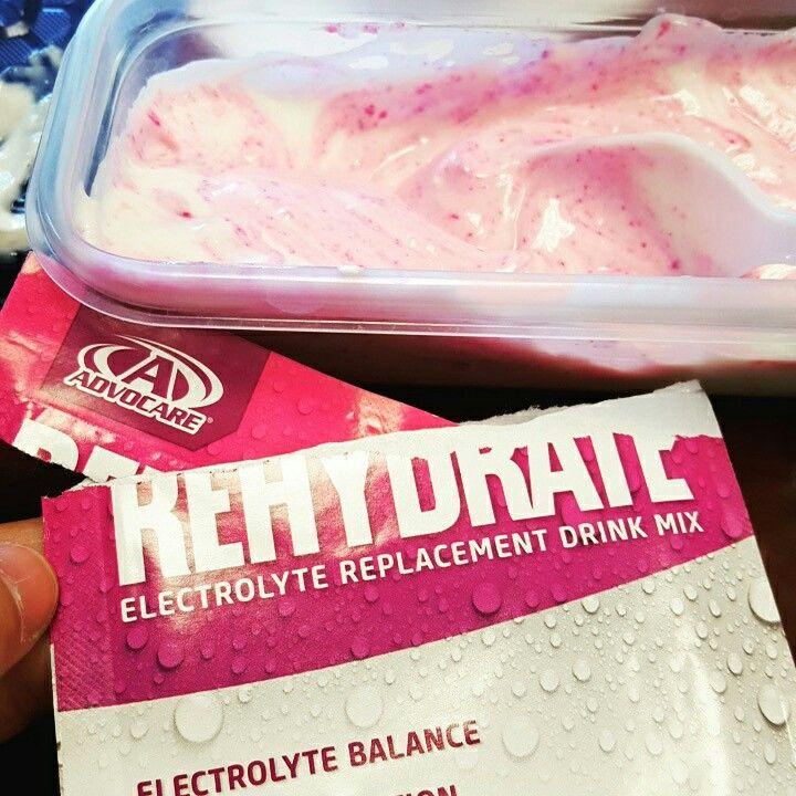 Great snack! Yum! AdvoCare Rehydrate with Greek yogurt!   https://www.advocare.com/150561725