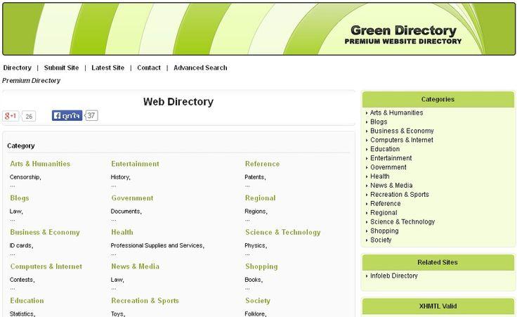 Green Web Directory http://www.kbbgreen.com/