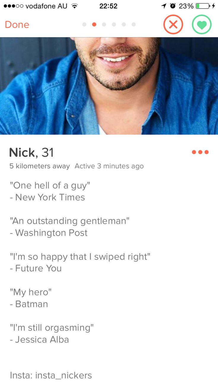 Funny one liners dating profile