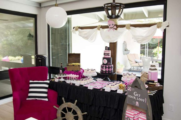Pirate Princess Birthday Party Ideas | Photo 1 of 23 | Catch My Party