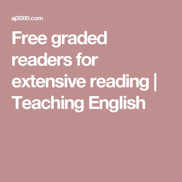Free graded readers for extensive reading | Teaching English