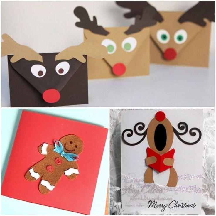 M s de 25 ideas incre bles sobre postales navidad - Targetas de navidad originales ...