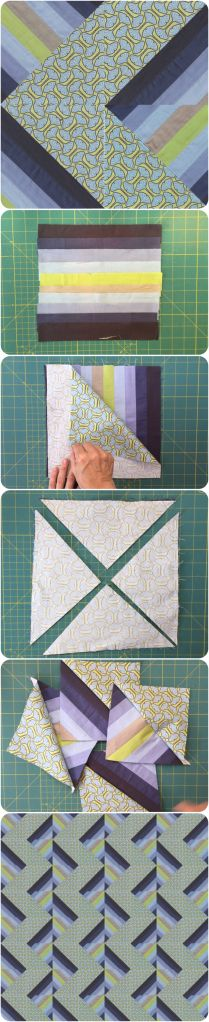Half and Half Square Triangle quilt block - learn to make this block in 2 minutes and make a spectacular looking quilt
