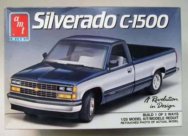 1989 Chevy Silverado c-1500...totally had one of these until dad sold it before i was old enough to drive...i hold a grudge...Google Image Result for http://www.gasolinealleyantiques.com/kits/images/CarAMTErtl/amtertl-silverado1.JPG