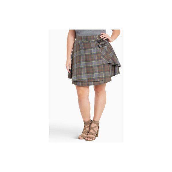 Torrid Outlander Fraser Tartan Plaid Skirt ($41) ❤ liked on Polyvore featuring skirts, mini skirts, bottoms, plus size, red, plus size mini skirts, white mini skirt, mini skirt, short plaid skirt and short white skirt