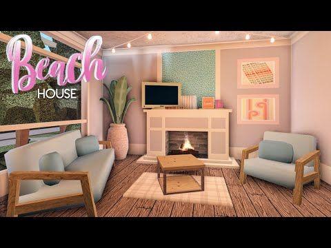 Bloxburg Modern Beach House House Build Youtube House Decorating Ideas Apartments Bedroom House Plans Beach House Living Room