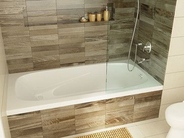 Drop In Tub Flush With Wall Tile Bathroom Makeover