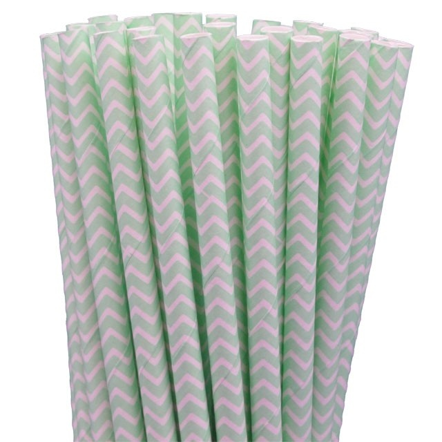 Greenmunch - Paper Straws - Mint Green Chevron, $4.50 (http://www.greenmunch.ca/paper-straws/standard-length/chevron/paper-straws-mint-green-chevron/)