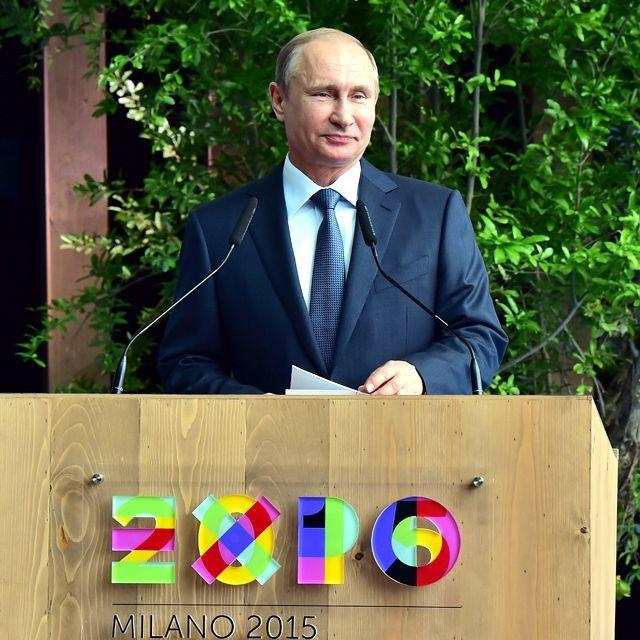 L'intervento del presidente russo Vladimir Putin all'Expo di Milano