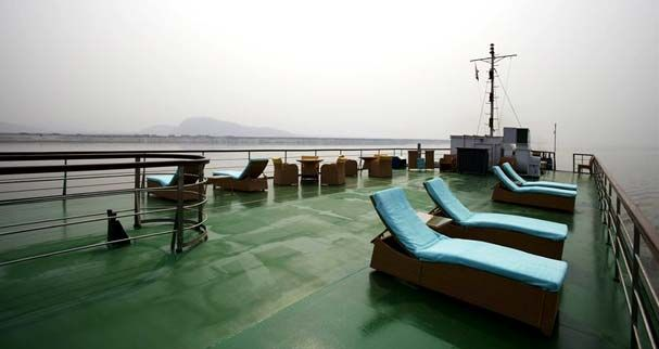 """#RiverCruising #Cruise - for an """"Experiential Journey"""" - on the Brahmaputra, one of the greatest rivers of Asia,  on board our prestigious river cruise vessel, M.V. #Mahabaahu. The #Brahmaputra in #Assam spans from 3 to 40 kms across, flowing under the shadows of the eastern Himalayas with mountains reaching a height of over 7400 meters. The area along the river is a true natural history paradise. Here you find over 850 different species of birds, fresh water #Dolphins. #Adventure #India"""