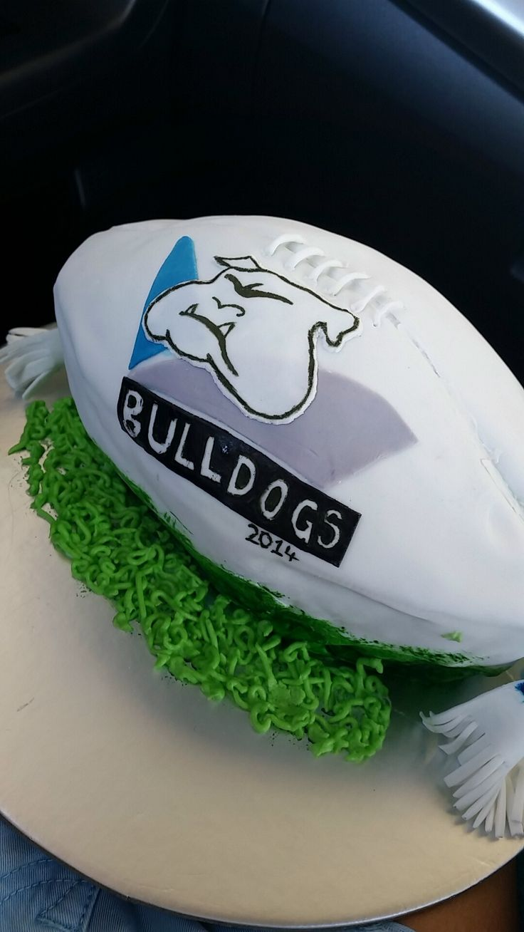 Bulldogs NRL Football Cake
