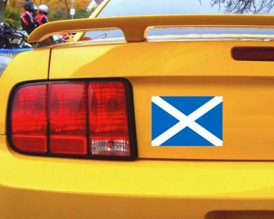Schottland Flagge Aufkleber Autoaufkleber. Schottland Flagge Aufkleber in einer Breite ab 8cm