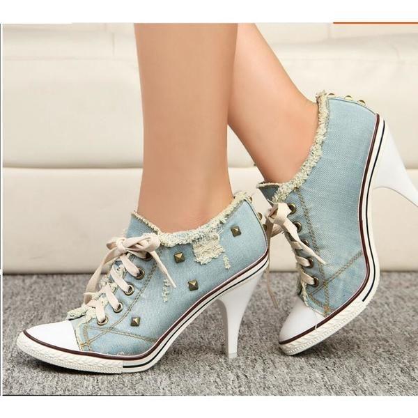 high heels, Sneaker heels