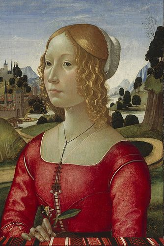 Attr. to Domenico Ghirlandaio - Portrait of a young woman