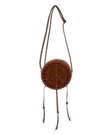 Look at this #zulilyfind! Saddle Peace Drum Crossbody Bag by Love Trove #zulilyfinds