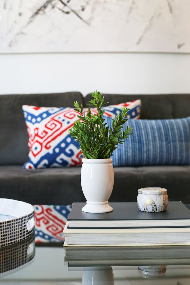 Love blue & red accents for summer! #potterybarn