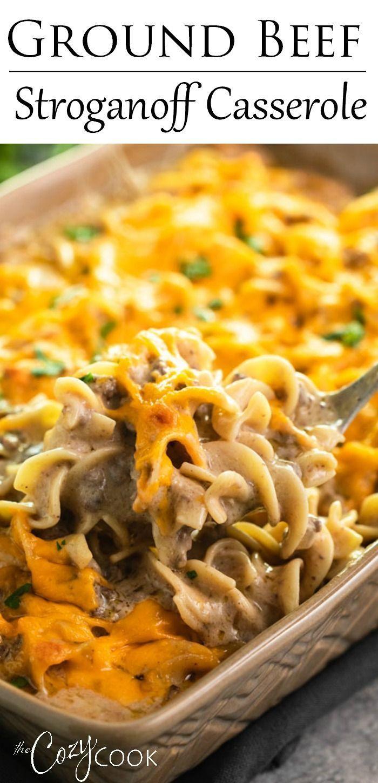 Ground Beef Stroganoff Casserole Beef Casserole Recipes Ground Beef Recipes For Dinner Dinner With Ground Beef