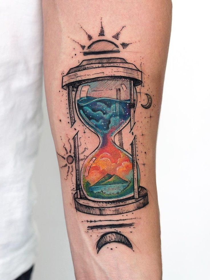 Ramón on in 2020 (With images) Hourglass tattoo, Sleeve