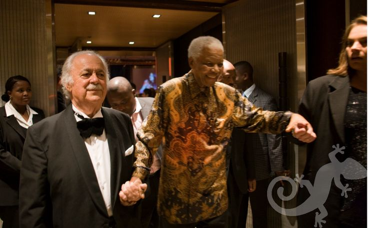 80th Birthday Event George Bizos Nelson Mandela