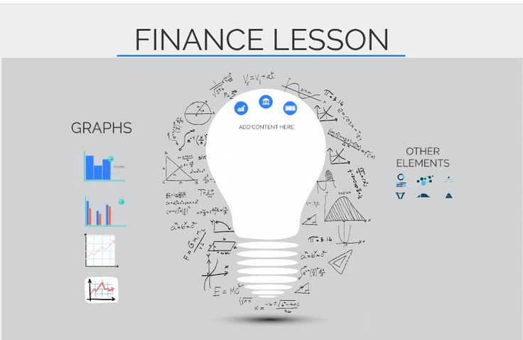 Free reusable Prezi template for presenting financial information or a lesson. Includes extra elements to reuse.